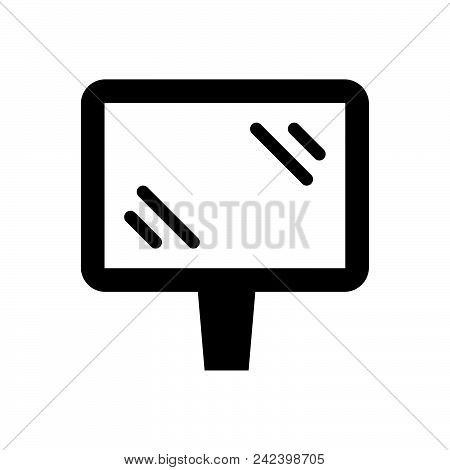 Road Banner Vector Icon On White Background. Road Banner Modern Icon For Graphic And Web Design. Roa