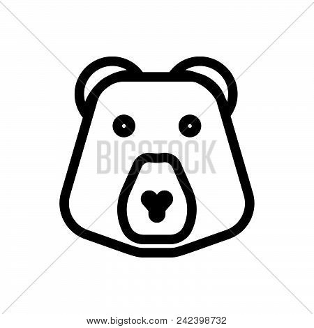 Bear Vector Icon On White Background. Bear Modern Icon For Graphic And Web Design. Bear Icon Sign Fo