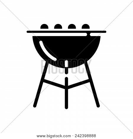Open Grill Vector Icon On White Background. Open Grill Modern Icon For Graphic And Web Design. Open