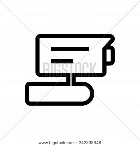 Ip Tv Camera Vector Icon On White Background. Ip Tv Camera Modern Icon For Graphic And Web Design. I