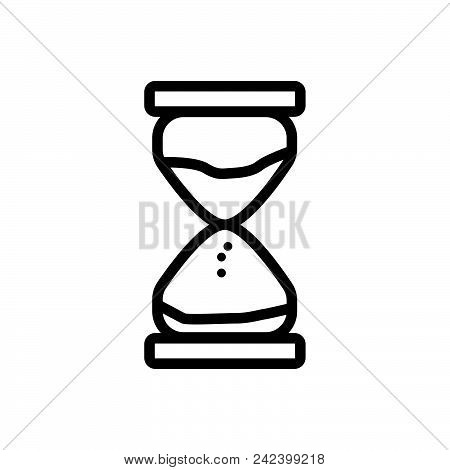 Sand Clock Outlined Symbol Of Sandwatch. Sand Clock Icon. Sand Clock Icon Vector Eps. Sand Clock Ico