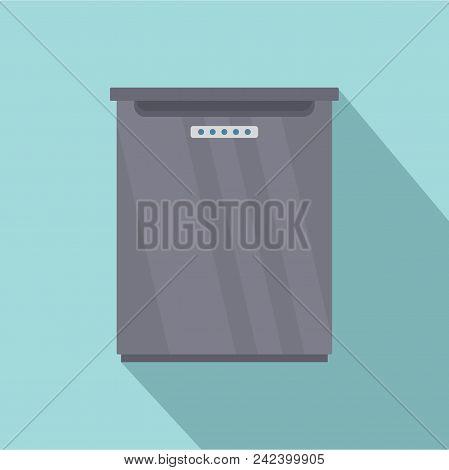 Refrigerator Icon. Flat Illustration Of Refrigerator Vector Icon For Web Design