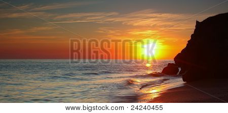 Sunset At The Sea Of Azov