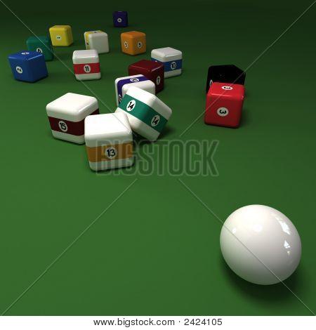 Cubic Billiards Balls