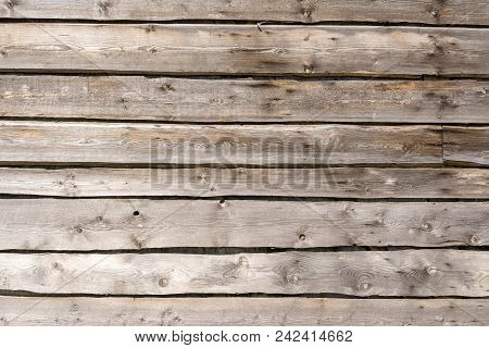 Texture Tree. Wide Wooden Boards. The Wall Of The Barn.