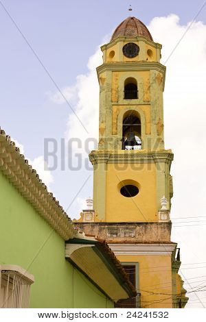 The bell tower. UNESCOs World Heritage sites since 1988. Trinidad Sancti Spiritus Province Cuba. poster