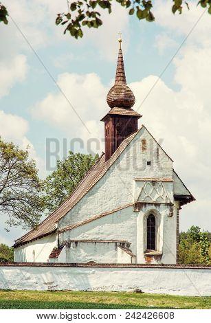 Chapel Of Our Mother God Near Veveri Castle, Moravia, Czech Republic. Travel Destination. Religious