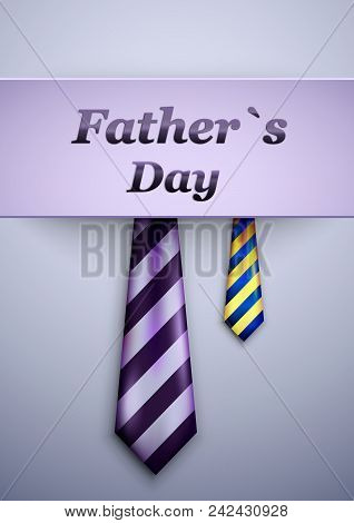 Happy Father S Day Calligraphy Greeting Card With Necktie.