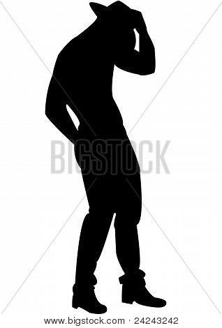 Standing cowboy