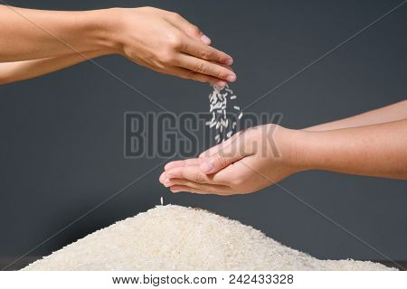 Hand With Rice
