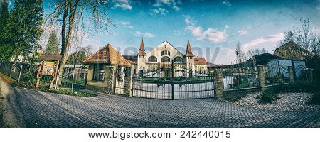 Historic Building Of National Stud Farm, Topolcianky, Slovak Republic. Architectural Theme. Analog P