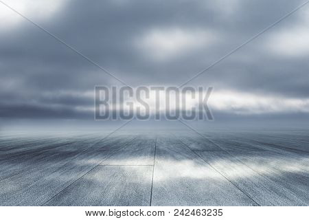Creative Road On Dull Sky Backdrop. Way To Success Concept