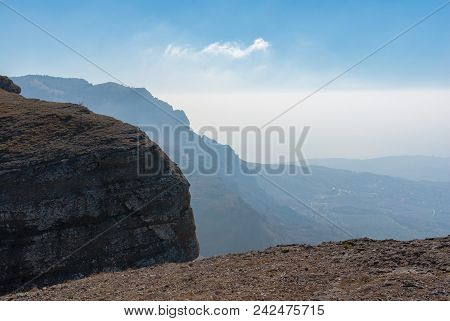 View From Demerdzhi Mountain To Black Sea Shore Near Alushta City, Crimean Peninsula