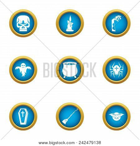 Lethal Icons Set. Flat Set Of 9 Lethal Vector Icons For Web Isolated On White Background