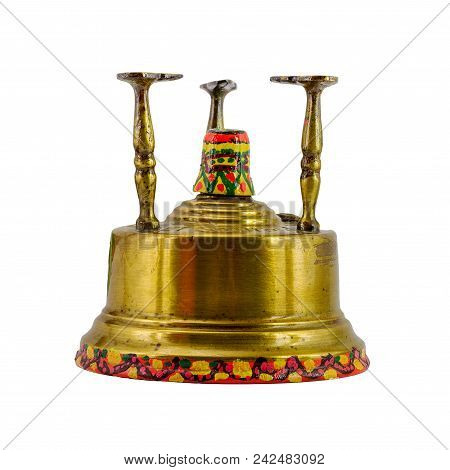 Traditional Egyptian Kerosene Stove Used To Make Turkish Coffee Isolated On White