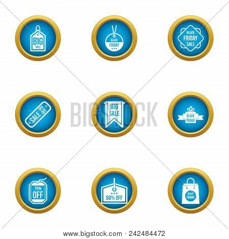 Sale Apparel Icons Set. Flat Set Of 9 Sale Apparel Vector Icons For Web Isolated On White Background
