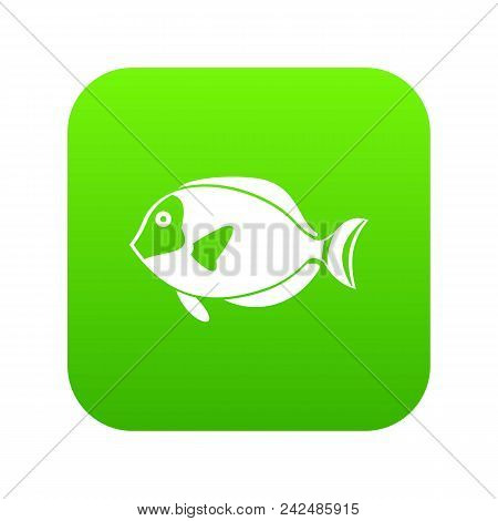 Surgeon Fish Icon Digital Green For Any Design Isolated On White Vector Illustration