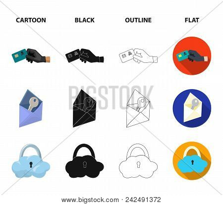 System, Internet, Connection, Code .hackers And Hacking Set Collection Icons In Cartoon, Black, Outl