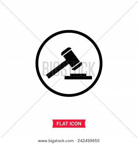 Judge Gavel Vector Icon