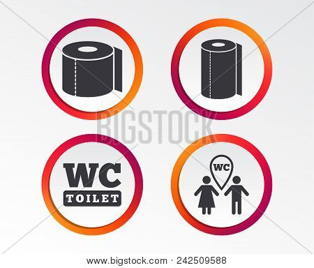 Toilet Paper Icons Vector Photo Free Trial Bigstock