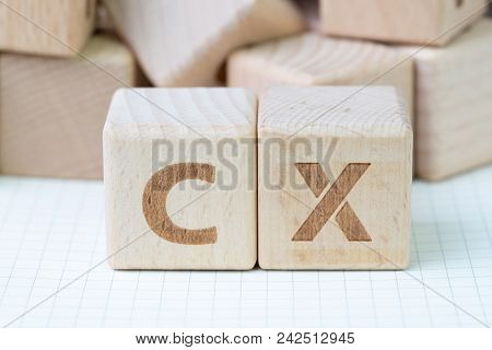 Customer Experience Concept, Cube Wooden Block With Alphabet Cx, Important Of User Centric In Recent