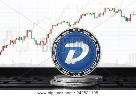 Digibyte (dgb) Cryptocurrency; Digibyte Coin On The Background Of The Chart