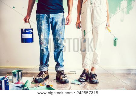 Couple renovating their new house