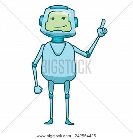 Bot Icon. Chatbot Icon Concept. Cute Smiling Robot. Vector Modern Line Character Illustration Isolat