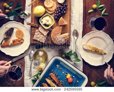 A couple eating a cheese platter food photography recipe idea