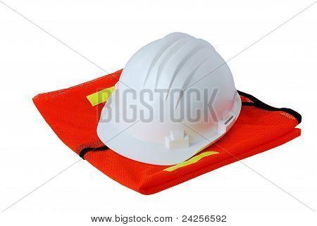 Basic Work Safety Set Isolated On White