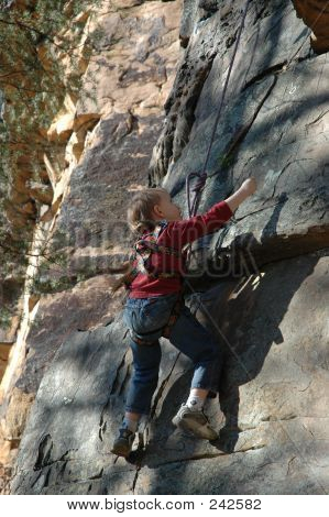 Child Rock Climbing 1
