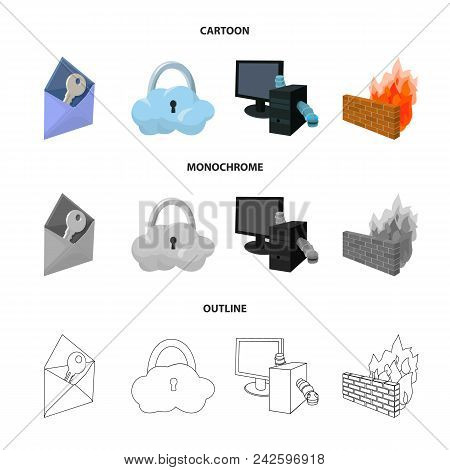 System, Internet, Connection, Code .hackers And Hacking Set Collection Icons In Cartoon, Outline, Mo
