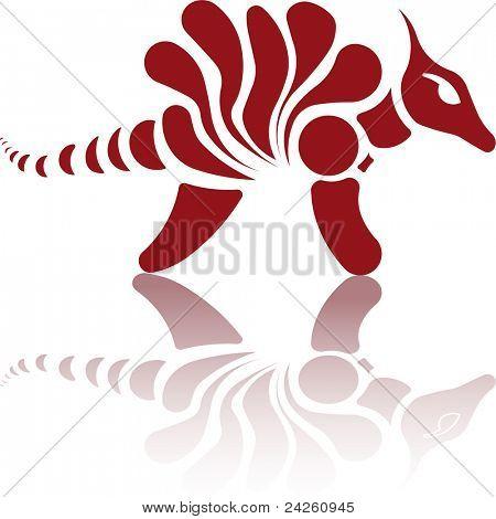 retro Dinosaur logo