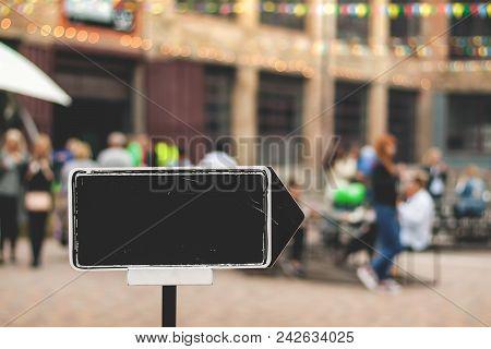 Empty Arrow On A Signpost.