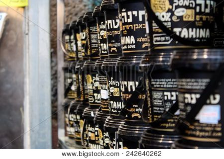 Jerusalem Israel May 24, 2018 Closeup Of Thina Sold In The Market Of Jerusalem In Israel