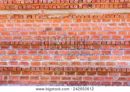 Mon Brick Wall With Different Alignment Background