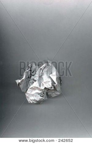 Word Paper Crumple