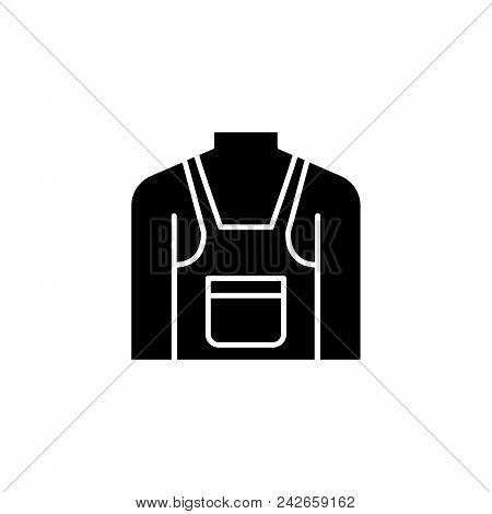Pinafore Black Icon Concept. Pinafore Flat  Vector Website Sign, Symbol, Illustration.