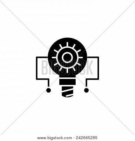 Principle Circuit Black Icon Concept. Principle Circuit Flat  Vector Website Sign, Symbol, Illustrat