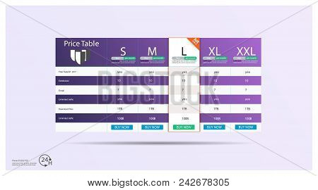 Creative Vector Illustration Of Business Plans Web Comparison Pricing Table Isolated On Transparent