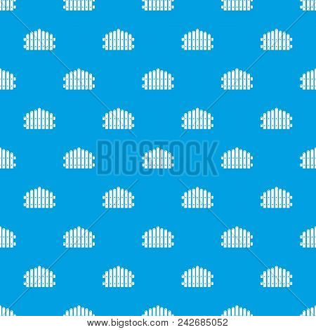 Palisade Pattern Vector Seamless Blue Repeat For Any Use