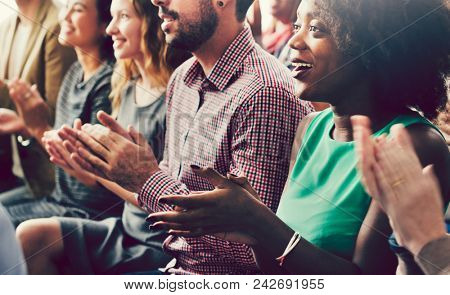 Diverse group of people in a seminar