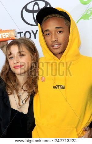 LOS ANGELES - MAY 22:  Odessa Adlon, Jaden Smith at the 28th Annual Environmental Media Awards at the Montage Beverly Hills on May 22, 2018 in Beverly Hills, CA
