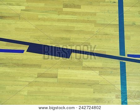 Top View Of Court In Gymhall Indoors Modern Contemporary Office Stadium With Basketball  Court