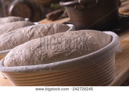 Loaf Bread On A Basket