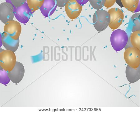 Stock Vector Illustration  Confetti Isolated On A Background.
