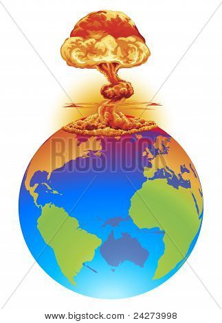 Explosion Earth Disaster Concept