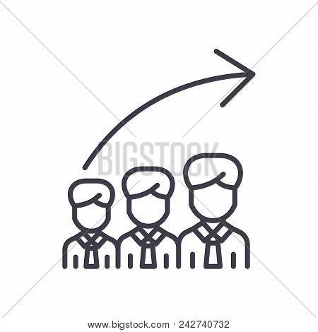 Career Progression Black Icon Concept. Career Progression Flat  Vector Website Sign, Symbol, Illustr