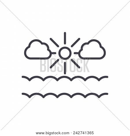 Clear Weather Black Icon Concept. Clear Weather Flat  Vector Website Sign, Symbol, Illustration.