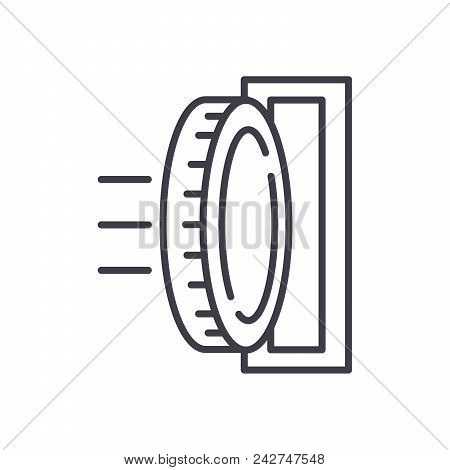 Investment Of Funds Black Icon Concept. Investment Of Funds Flat  Vector Website Sign, Symbol, Illus